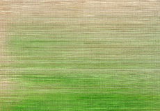 Bamboo mat. A bamboo mat with a green gradient paint Royalty Free Stock Images