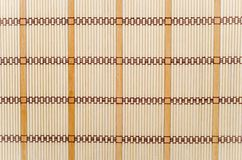Bamboo mat Royalty Free Stock Images