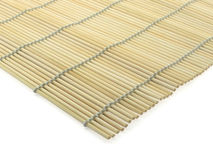 Bamboo-mat. Angle of bamboo-mat, isolated on white stock photo