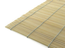 Bamboo-mat. Angle of bamboo-mat, isolated on white royalty free stock photography