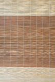 Bamboo mat background. Close-up shot of a bamboo sushi mat Royalty Free Stock Photos