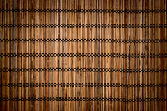 Bamboo mat background. Stock Photo