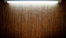Bamboo mat backlighting Stock Images