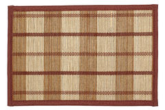 Bamboo mat -  can be used as background. Isolated on white Royalty Free Stock Photo