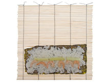 Bamboo mat for cooking sushi Stock Photography
