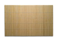 Bamboo mat isolated Stock Images
