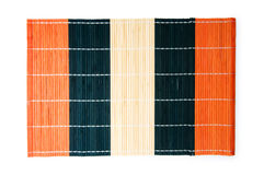 Bamboo mat isolated on the white Stock Image