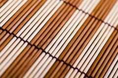 Bamboo mat. macro Stock Images