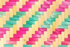 Bamboo mat pattern Royalty Free Stock Photos