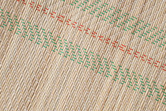 Bamboo mat pattern, detailed background texture Royalty Free Stock Image