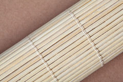 Bamboo mat in a roll Stock Image