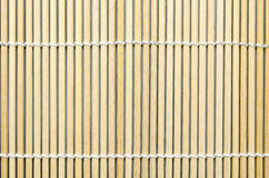 Bamboo mat for roll Sushi ; Japanese food Royalty Free Stock Image