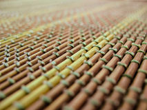 Bamboo Mat - stand food Stock Images