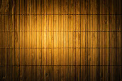 Bamboo Mat Straw Background, Wood Matting Texture. Dark Yellow Wall stock images
