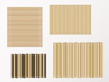 Bamboo mat texture and background. vector illustration. Royalty Free Stock Photo