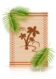 Bamboo mat tropic palm Royalty Free Stock Photo
