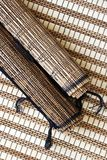 Bamboo mats royalty free stock photography