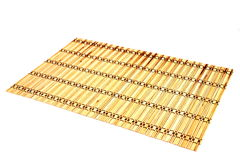 Bamboo mats against the white background Royalty Free Stock Images