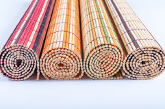 Bamboo mats Royalty Free Stock Images