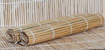 Bamboo mats Stock Images