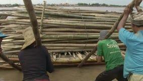 Bamboo, mekong , cambodia, southeast asia Royalty Free Stock Image