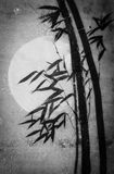 Bamboo moon and night Stock Photography