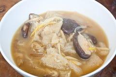 Bamboo Mushroom Soup Stock Photography