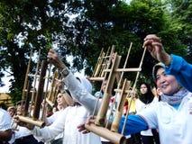 Bamboo music Stock Photo