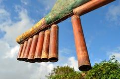 Bamboo Musical Instrument. In Kublai Millan's Art Garden in Kapatagan, Digos City, Philippines Stock Photos