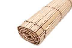 Bamboo napkin Stock Photography