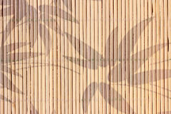 Bamboo Napkin. With pattern of leaves Stock Image