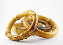 Bamboo napkin rings Royalty Free Stock Photo