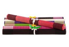 Bamboo napkins Stock Image