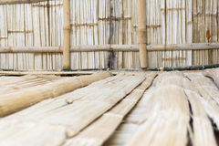 Bamboo Nipper hut. Nipper hut outside palm leaves roof in the philippines Royalty Free Stock Images