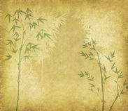 Bamboo on old grunge antique paper Royalty Free Stock Images