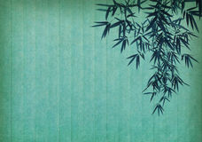 Bamboo on old grunge paper texture Stock Images