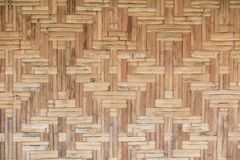 Bamboo old weave wall texture beautiful pattern background.  Royalty Free Stock Images