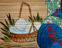 Bamboo Painting Royalty Free Stock Photography