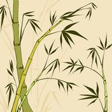 Bamboo Painting Stock Photography