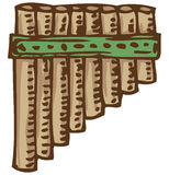 Bamboo Pan Flute Stock Images