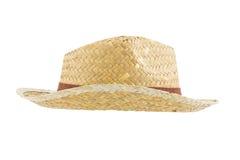 Bamboo panama hat Stock Photos