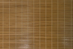 Bamboo panel. Wood texture on oriental wall Royalty Free Stock Images
