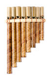 Bamboo panpipes Stock Images