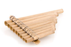 Bamboo panpipes Stock Image