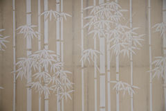 Bamboo paper window Stock Image
