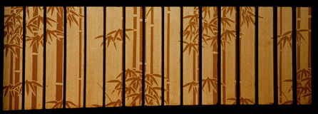 Bamboo paper window Royalty Free Stock Photo
