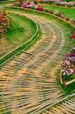Bamboo path walk in park Stock Images