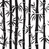 Bamboo pattern. Vector silhouette Stock Image
