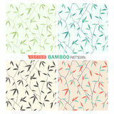 Bamboo pattern. Vector tropical seamless nature pattern.Summer pattern with bamboo Stock Images