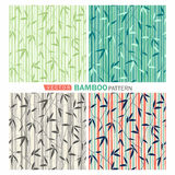Bamboo pattern. Vector tropical seamless nature pattern.Summer pattern with bamboo Royalty Free Stock Image